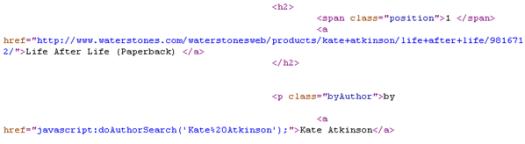 Waterstones Source Code