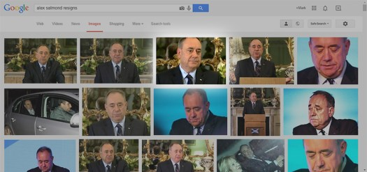 The Google Image results for 'alex salmond resigns'