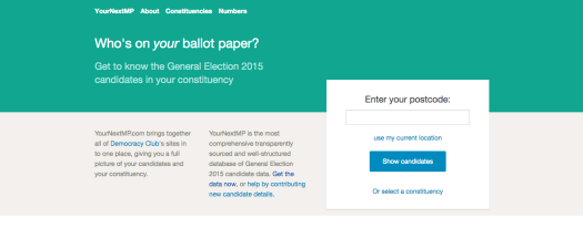 Crowd-sourcing site Your Next MP