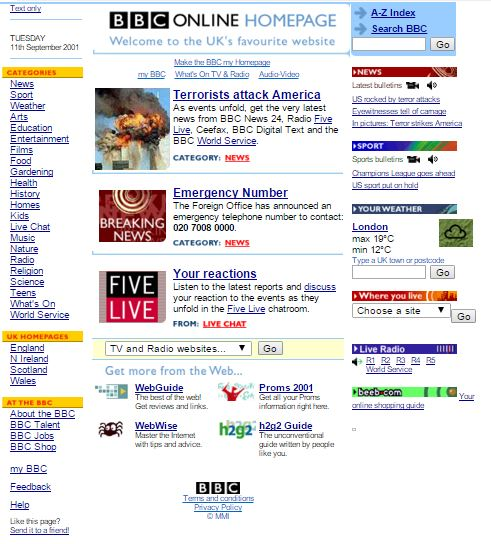 BBC 2001 terror