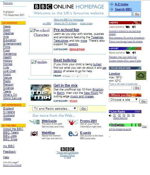 BBC morning Sept 11 2001