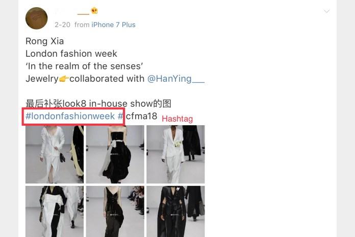 Weibo hashtags