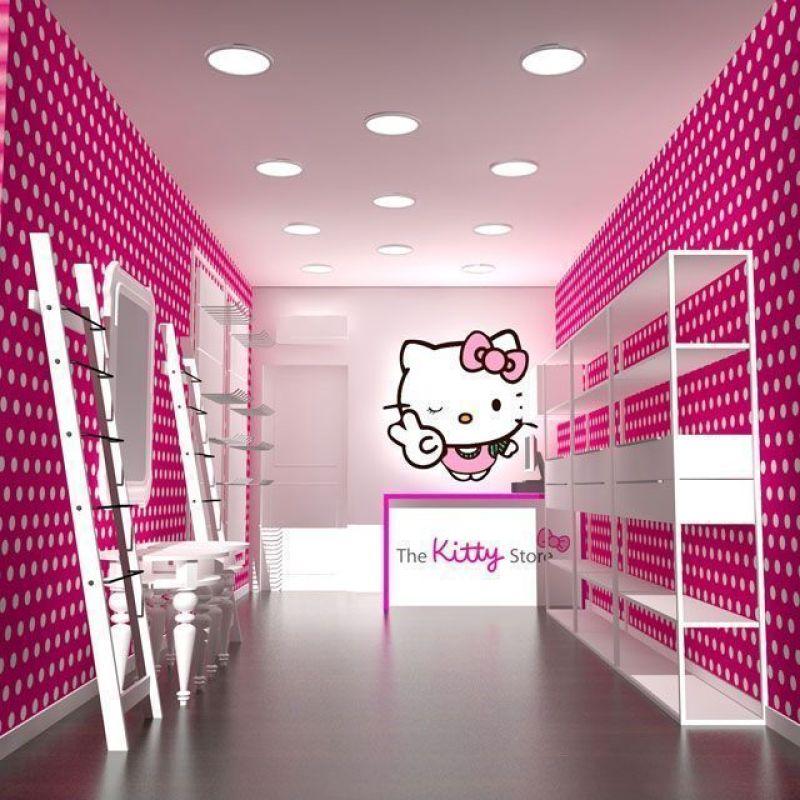 decoración tienda hello kitty