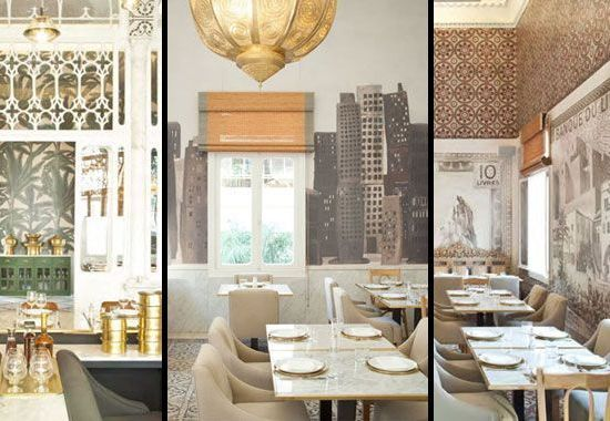 decoración de restaurante con estilo árabe