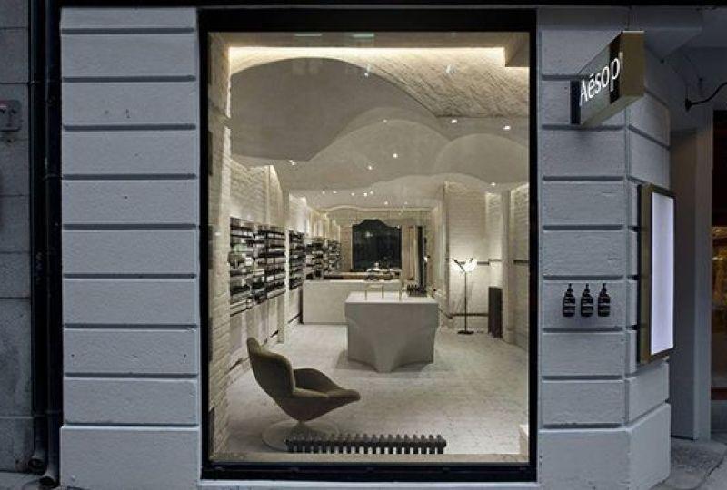 Diseño y decoración de la tienda Aesop de Oslo