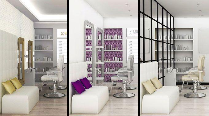 Dise o de locales peluquer a amelie - Ideas para decorar una peluqueria ...