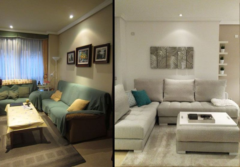 Obra, amueblamiento y decoración de una vivienda