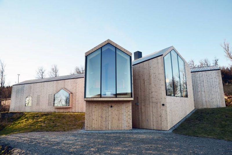 Refugio de diseño en los montes Noruegos