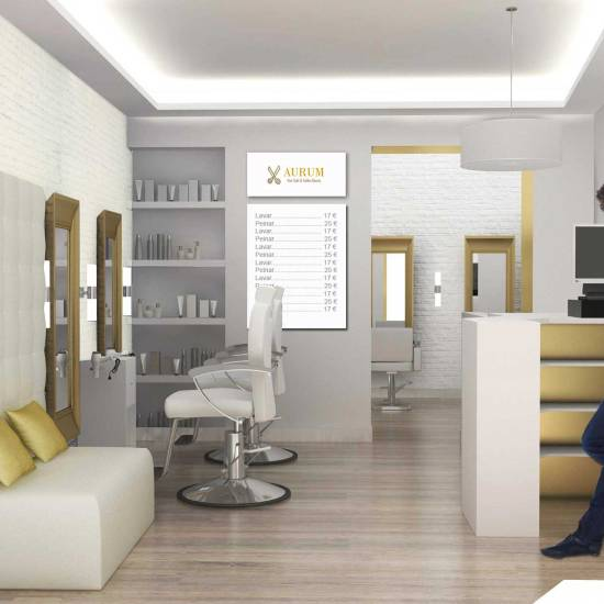 Proyecto de decoración de peluquerías pequeñas