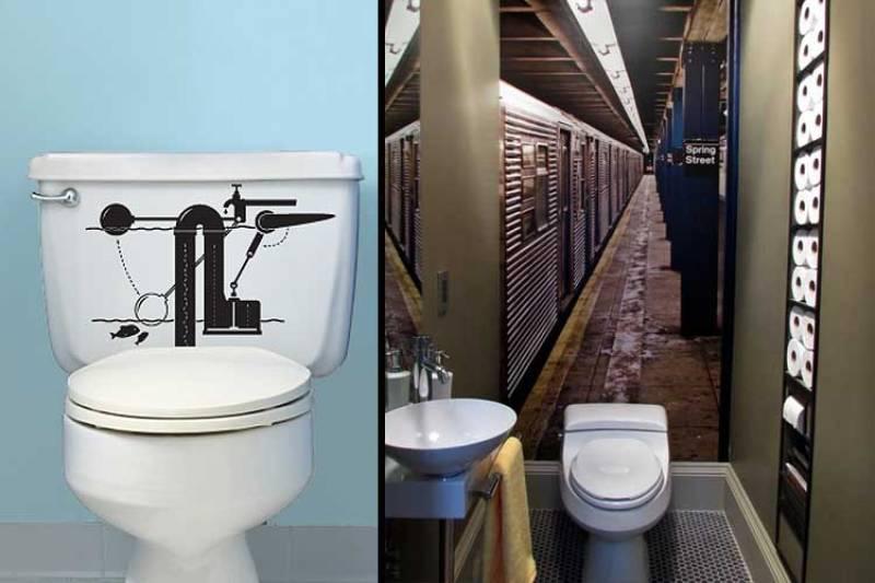 diseño de baños con un toque irreverente