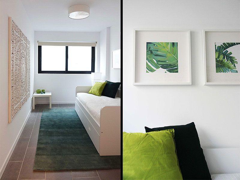 Mobiliario y decoración para un dormitorio de invitados