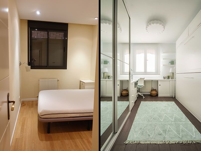Antes y después del amueblamiento