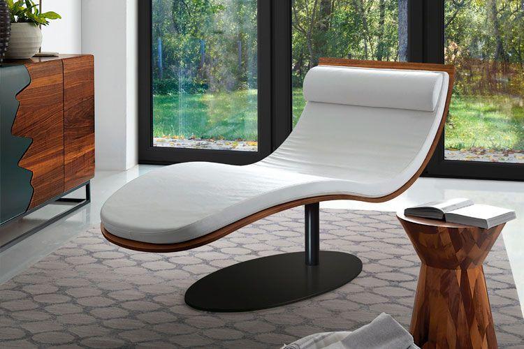 Chaise longue con una sola pata