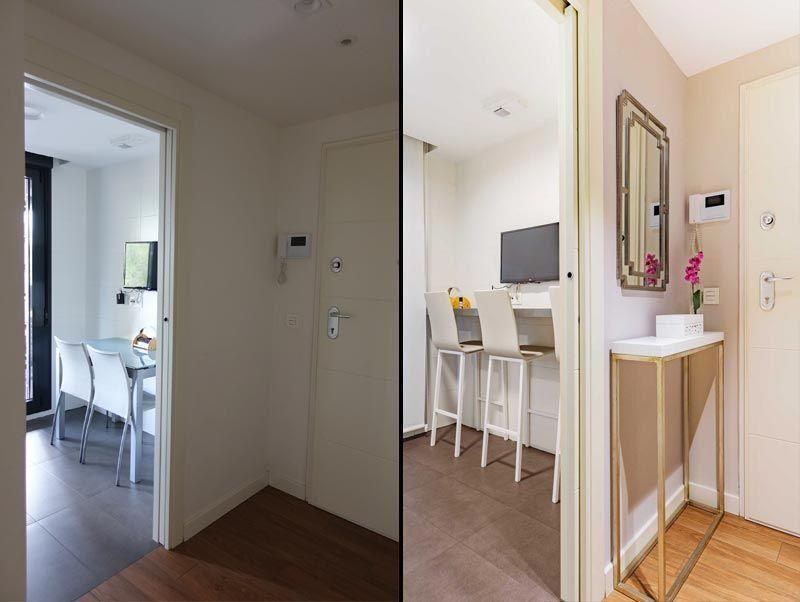 Antes y después de la decoración
