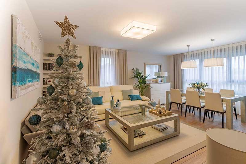 Salón decorado de Navidad