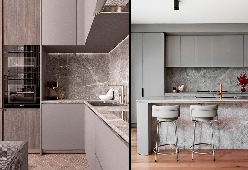 Cocinas grises elegantes