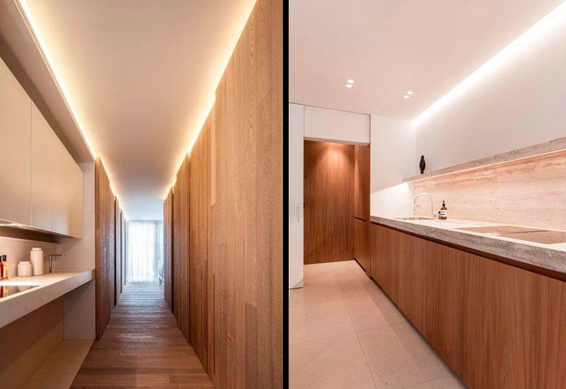 Iluminación indirecta de cocinas