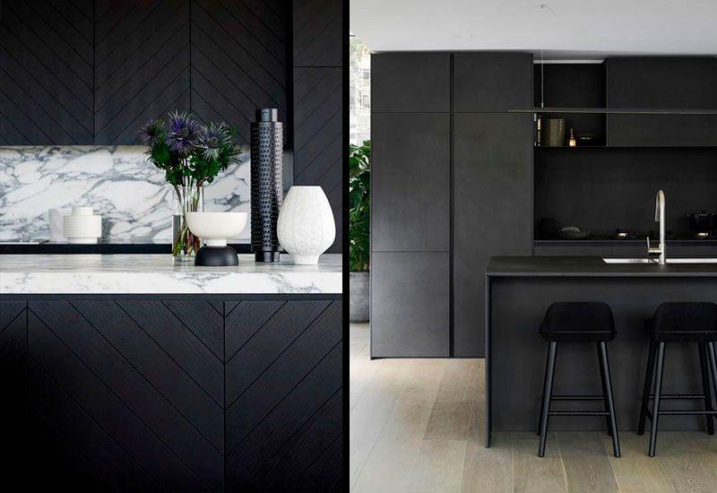 Cocinas negras de diseño