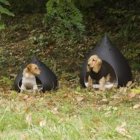 Hondenhuis hondenmand Castagna | keramiek Italo Bosa | donkerbruin | twee maten | Wannekes.com