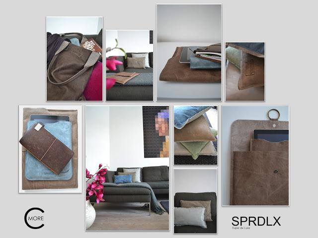 SPRDLX | tassen kussens accessoires en ipad-hoezen van stoer leer