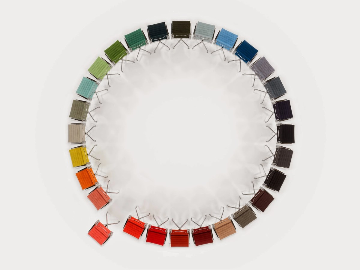 Vitra Milan 2014 | The Eames Aluminium Chair color wheel by Hella Jongerius | salone del mobile