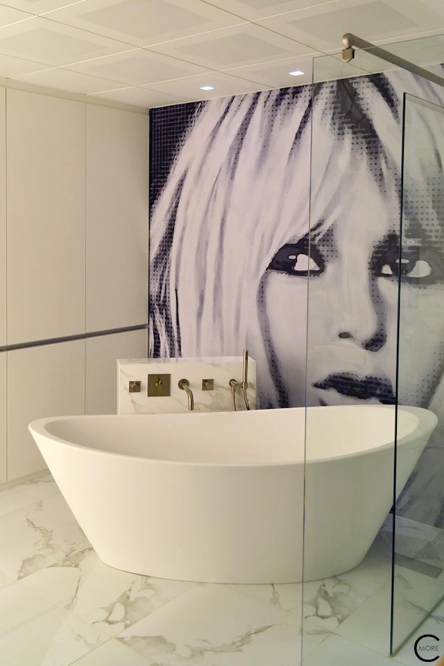 Vitra Design Kwartier Den Haag Studio van t Wout bathroom white marble free standing design bath