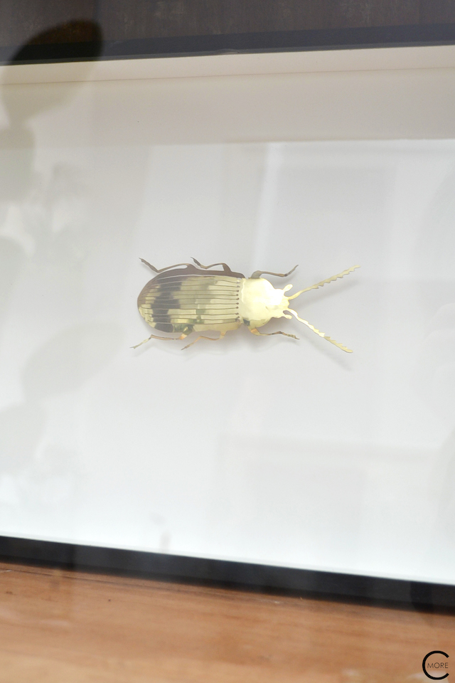 The Loft Amsterdam The Playing Circle August 2015  gold brass metal insect beetle styling