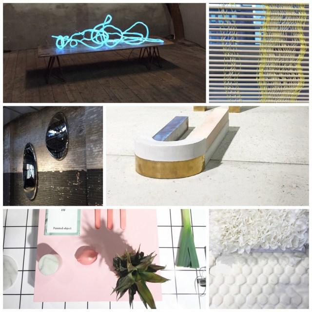 DDW15 Dutch Design Week 2015 collage by C-More interior blog | L-R | Pieke Bergmans at The Kazerne > Sanne Schuurman at The Design Academy > Lidewij Edelkoort expo at The Kazerne > Nel Verbeke at the Design Academy > Daniela Trelja at The Design Academy > Bori Kovacs at the Design Academy
