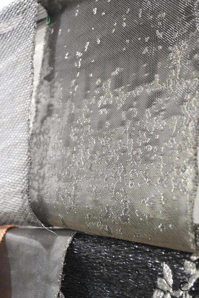 Textile with metal | Material Heaven | Fameed Hkalique London | visited with Modenus #LondonBlogtour #Designhounds | Luxury interior trend
