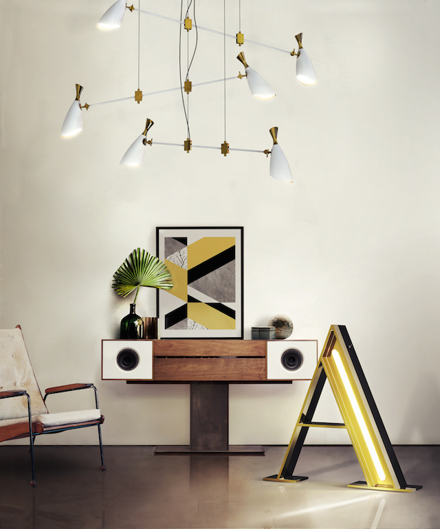 playing with retro colors and elements |spelen met retro kleuren & elementen | delightfull MODERN LAMPS GRAPHIC