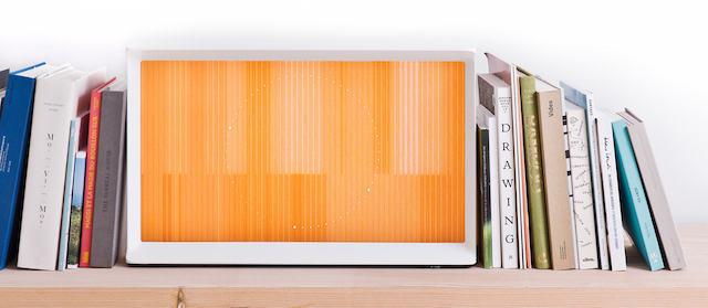 Lifestyle | bookshelf | Serif TV | Design by Bouroullec | Samsung | Vitra | Photo via Samsung