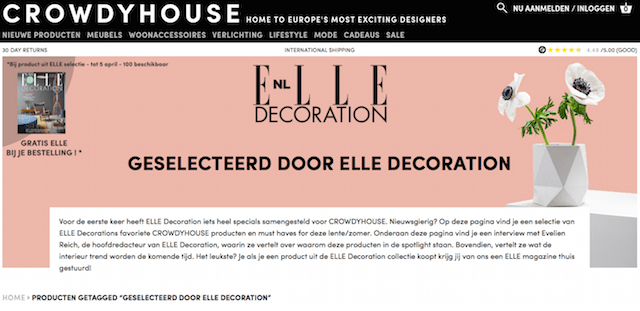 Crowdyhouse | Elle Decoration selection 2017