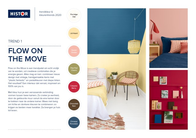 Histor-trendsheet Trend color 2020 | Flow on the Move | C-More
