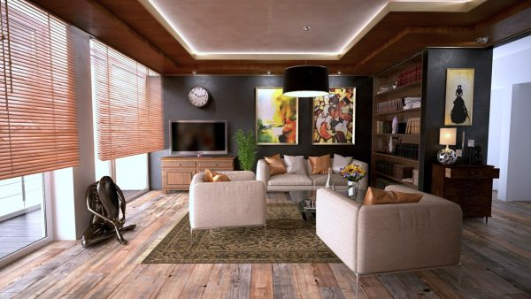 Moderne houten vloer