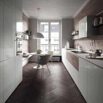 Moderne visgraat vloeren