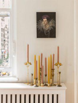 Klassieke interieur ideeën - kaarsen