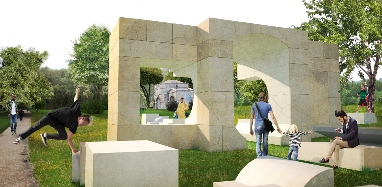 'Casa Veraniega' diseñada por Kunlé Adeyemi - NLÉ. Render © NLÉ.