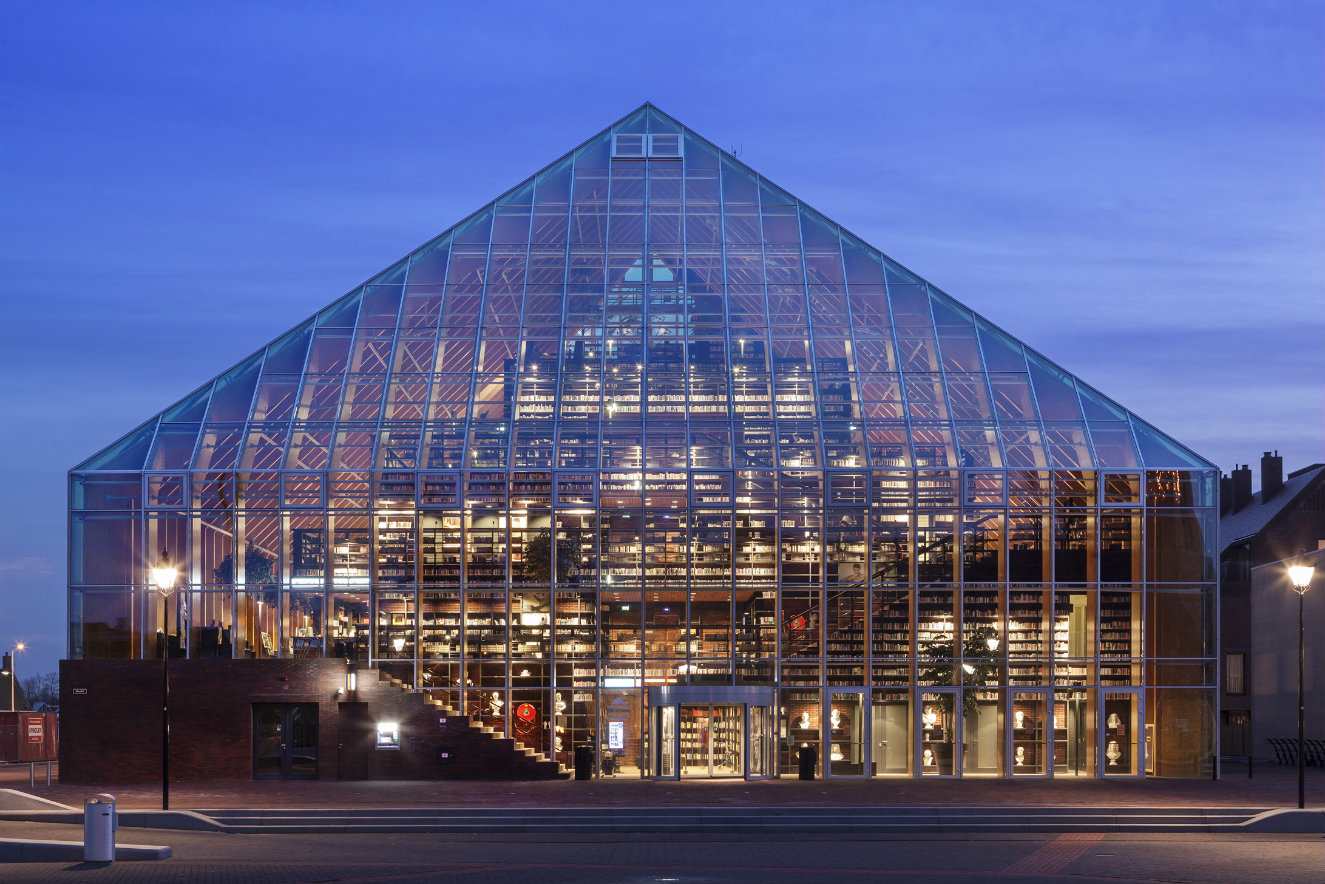 Biblioteca Book Mountain, Spijkenisse, Holanda, diseño de MVRDV.