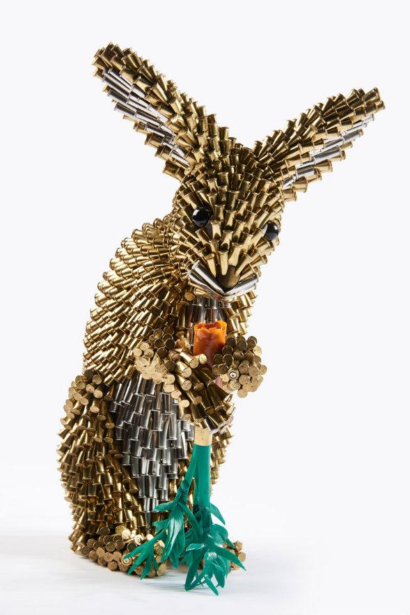 Adelson Galleries, de Estados Unidos, presentará esta obra del colombiano Federico Uribe, titulada Conejo y zanahoria. Cortesía, BARCÚ.