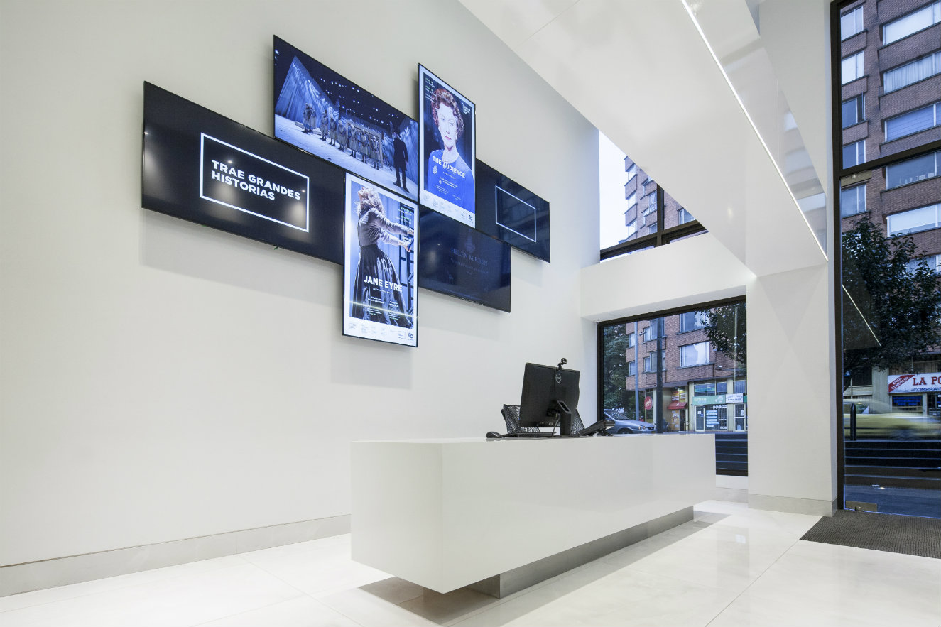 La recepción. Fotografía: cortesía, Arquitectura e Interiores.