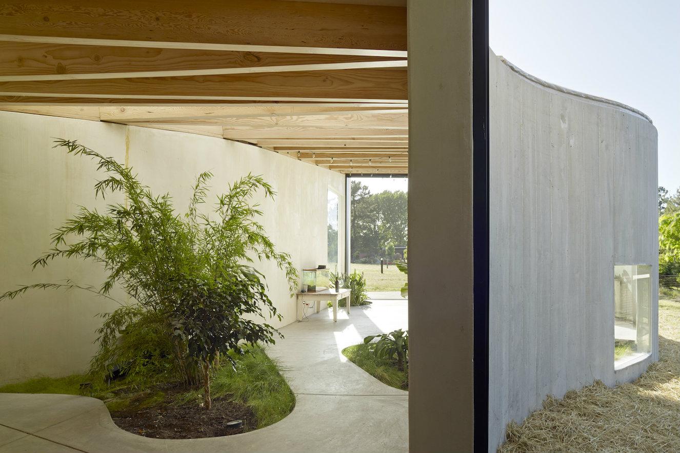 La forma irregular del volumen anexo al estudio hizo que el arquitecto lo bautizara con el nombre de 'La ameba'. Fotografía: © Bruce Damonte.