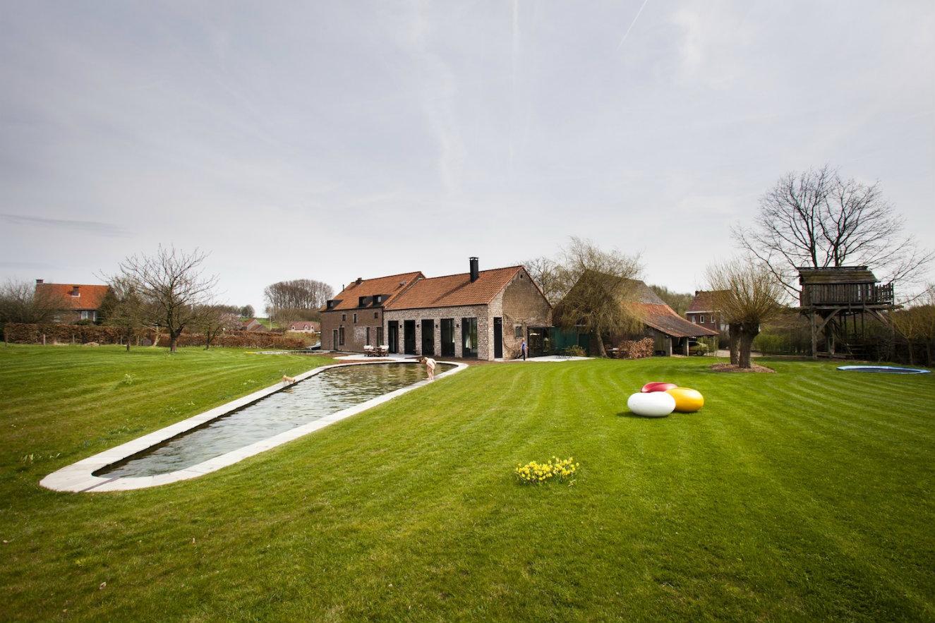 Rural y contemporánea casa Bélgica