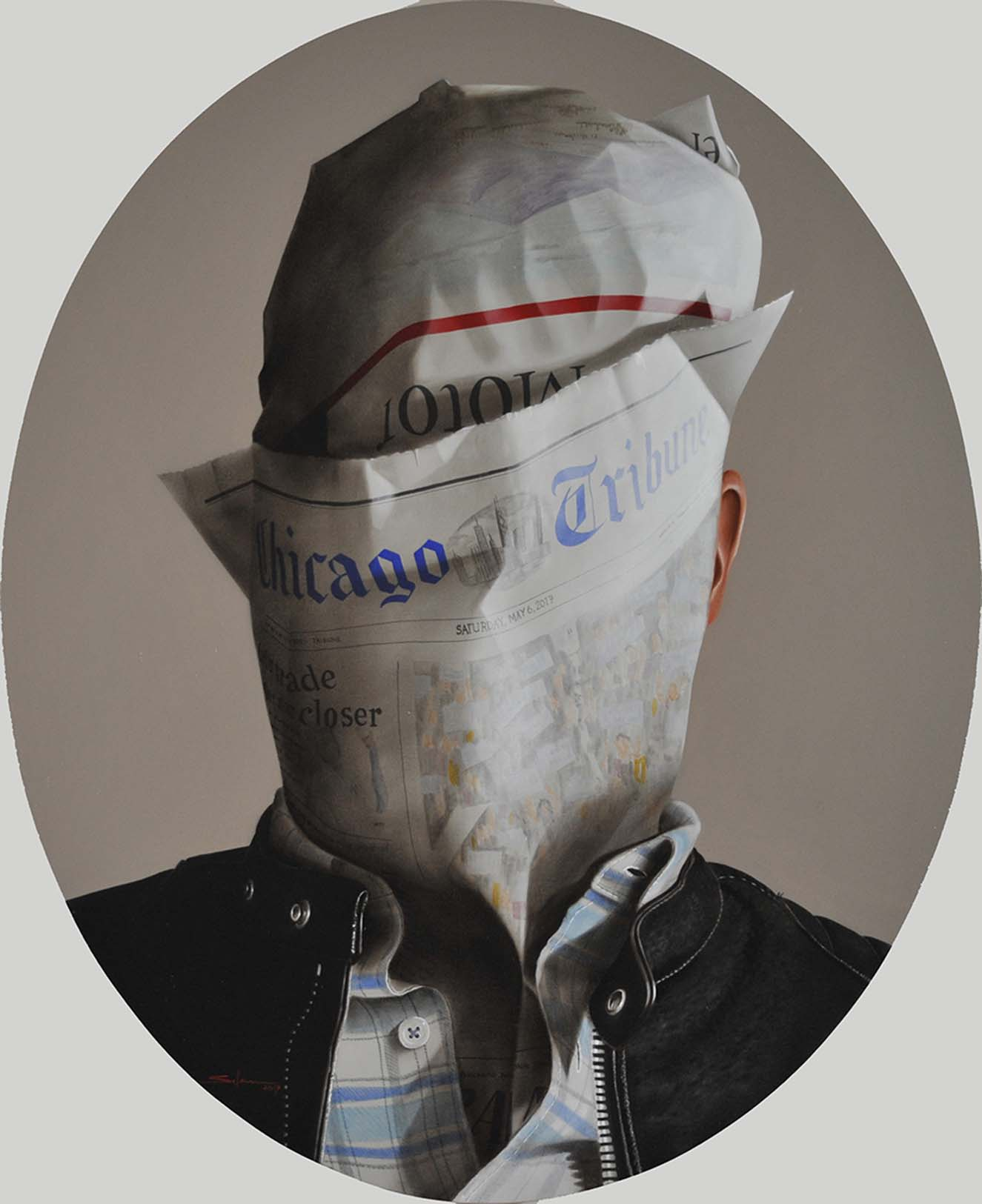 Retrato No 3, de Luis Selem. 110 x 90 cm. Fotografía: cortesía BARCÚ.