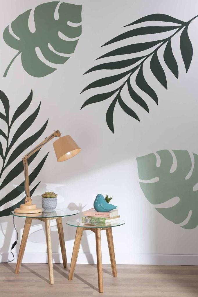 El empleo de setncils en las paredes es una forma creativa de crear figuras en las paredes y así darle personalidad al espacio. Fotografía: cortesía.