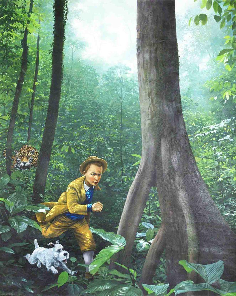 Tintin en la jungla. Artistas: Gabriel Ortega - Efraín Zúñiga.