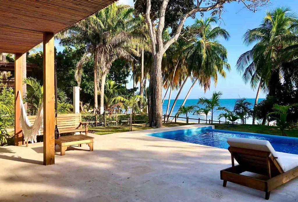 Vista al Mar Caribe desde la terraza. Fotografía: Yvonne Meyer.