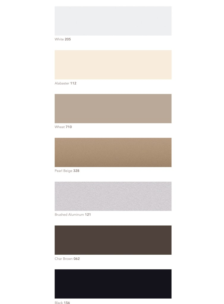 Aluminum Blinds Colors