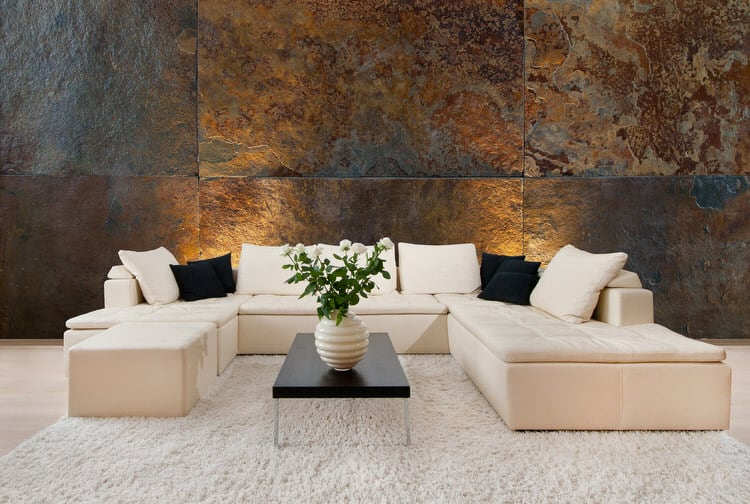30 Gorgeous Living Rooms with Stone Walls  Pictures  If you want to decorate an expansive wall area consider using large  sections of stone  It will match the wall s scale as well as create greater  visual
