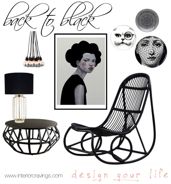 craving black details interior design round up 2