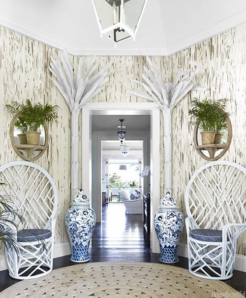 peacock chair inspiration entryway